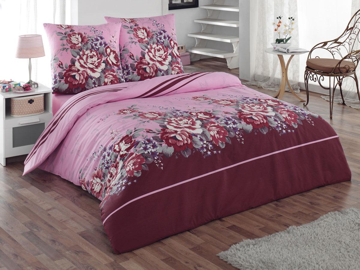 Комплект белья Tete-a-Tete Classic Шармэль, 1,5-спальный, наволочки 70х70, цвет: бордовый, розовый, фиолетовый. К-8071391602Комплект постельного белья Tete-a-Tete Classic Шармэль является экологически безопасным для всей семьи, так как выполнен из бязи (100% натурального хлопка). Гладкая структура делает ткань приятной на ощупь, мягкой и нежной, при этом она прочная и хорошо сохраняет форму. Ткань легко гладится, не линяет и не садится. Комплект состоит из пододеяльника, простыни и двух наволочек. Изделия оформлены цветочным принтом. Комплект постельного белья Tete-a-Tete Classic Шармэль станет отличным дополнением вашего интерьера и подарит гармоничный сон.