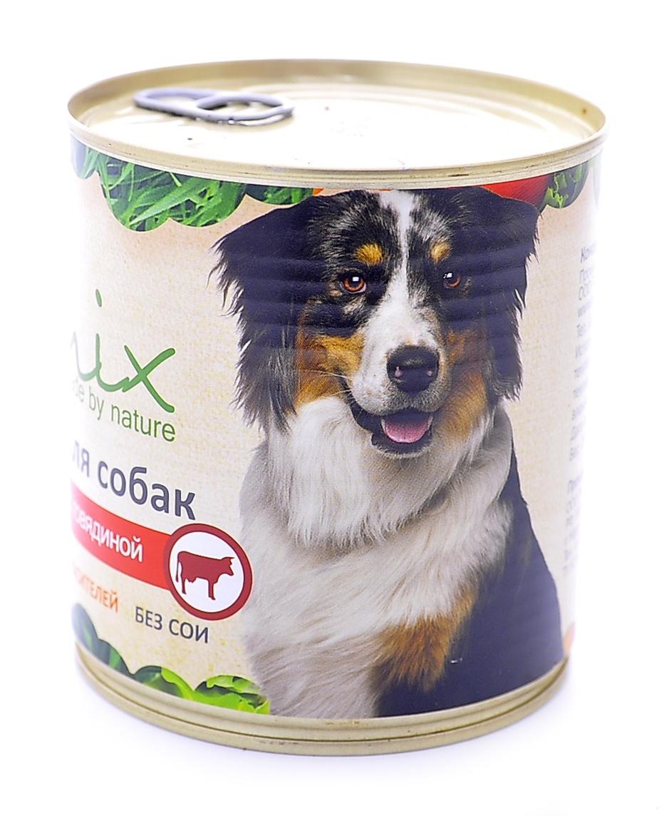 Консервы для собак Organix говядина, 750 г0120710Мясные консервы для взрослых собак с говядиной изготовлены из 100% свежего мяса. Не содержит искусственных красителей, ароматизаторов или консервантов, ГМО.Специальная обработка помогает сохранять корм длительное времяПриготовлены из тщательно отобранных сортов мяса, которые внесут приятное разнообразие в меню вашего питомца.Корм разработан для обеспечения всех питательных потребностей взрослых собак. Состав: говядина, рубец, печень, сердце, легкое, натуральная желирующая добавка, злаки (не более 2%) соль, растительное масло, вода.В 100 г продукта: протеин - 8,0, жир - 6,0, углеводы - 4,0, клетчатка - 0,2, зола - 2,0, влага - до 80%. Энергетическая ценность: 102 ккал.Суточная норма 25 г на 1 кг веса животного. Условия хранения: в прохладном темном месте.