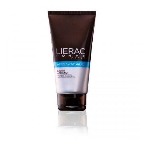 Lierac Успокаивающий бальзам после бритья линии LIERAC HOMME 75 млперфорационные unisexБальзам для ежедневного применения, не содержащий спирта, мгновенно успокаивает кожу, устроняет чувство жжения, покалывания, покраснения. Содержит натуральные компоненты, замедляющие рост волос.