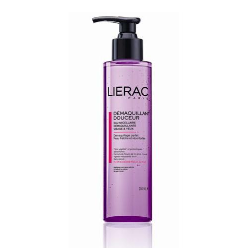 Lierac ВОДА ОЧИЩАЮЩАЯ для лица и контура глаз 200 млFS-00897Мягко очищает кожу, в том числе хрупкую кожу зоны контура глаз. Придаёт ощущение свежести и комфорта.Содержит натуральный защитный комплекс ECOSKIN (цветочный мёд, пробиотики-детоксикаторы), экстракты цветков льна (защищает сосуды и выводит токсины) и мальвы (смягчает и разглаживает кожу), витамин В5 (способствует росту ресниц)