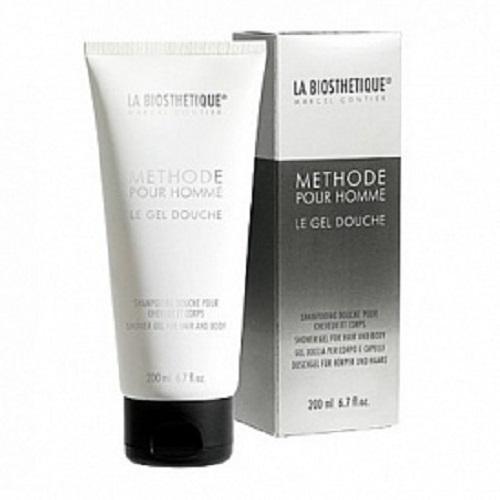 LaBiosthetique Гель-шампунь Methode Pour Homme для душа с увлажняющим комплексом, 200 млFS-00897Мягкий Гель-Шампунь эффективно очищает волосы, кожу головы и тела, не высушивая и не оставляя ощущение стянутости кожи, не вызывая раздражение. Основу средства составляет комплекс из растительных экстрактов, в который входят: Бетаин, выделенный из сахарной свеклы, интенсивно увлажняющий кожу и длительно удерживающий в ней влагу, а также укрепляющий волосы и их луковицы, и экстракт Ладана, снимающий раздражение, успокаивающий и смягчающий кожу. Кроме того, гель содержит Липидный комплекс, который повышает уровень липидов в коже и растительные Полисахариды образующие тончайшую, не ощутимую, защитную пленку. После принятия душа волосы становятся эластичными и блестящими, а кожа упругой и гладкой.