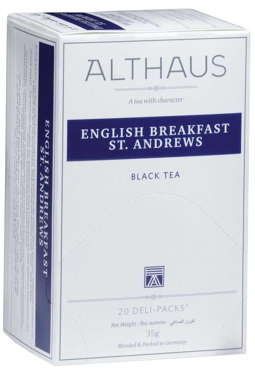 Althaus English Breakfast St. Andrews чай черный в пакетиках, 20 шт