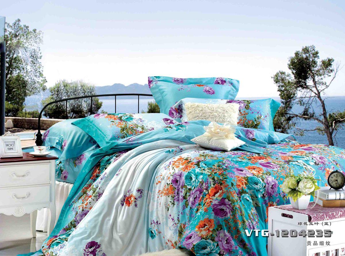 Комплект белья Диана La Vanille, 1,5-спальный, наволочки 70х70, цвет: голубой, сиреневый, красный. С-649-143-150-70CA-3505Комплект постельного белья Диана La Vanille состоит из пододеяльника, простыни и двух наволочек. Белье бесшовное, оформлено оригинальным рисунком и имеет изысканный внешний вид. Изготовлено из бязи люкс (100% хлопка).Бязь - это ткань из экологически чистого и натурального 100% хлопка. Неоспоримым плюсом белья из такой ткани является мягкость и легкость, она прекрасно пропускает воздух, приятна на ощупь, не образует катышков на поверхности и за ней легко ухаживать. При соблюдении рекомендаций по уходу это белье выдерживает много стирок, не линяет и не теряет свою первоначальную прочность. Уникальная ткань обеспечивает легкую глажку.Приобретая комплект постельного белья Диана La Vanille, вы можете быть уверенны в том, что покупка доставит вам и вашим близким удовольствие и подарит максимальный комфорт.