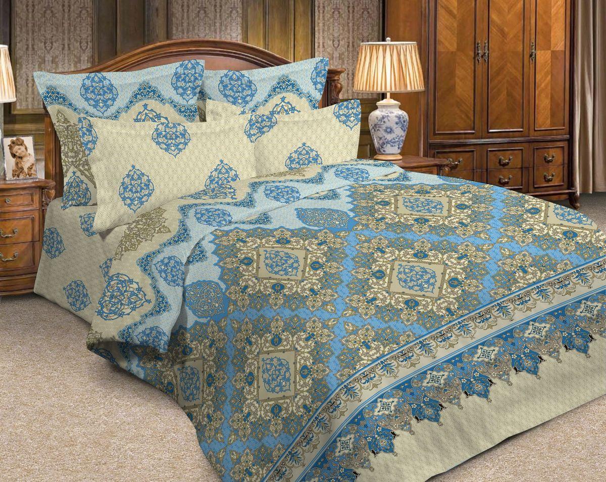 Комплект белья Диана La Vanille, 1,5-спальный, наволочки 70х70, цвет: молочный, синий. С-664-143-150-70K100Комплект постельного белья Диана La Vanille состоит из пододеяльника, простыни и двух наволочек. Постельное белье оформлено оригинальными восточными узорами и имеет изысканный внешний вид.Белье изготовлено бязи (100% хлопка).Бязь - это ткань из экологически чистого и натурального 100% хлопка. Неоспоримым плюсом белья из такой ткани является мягкостьи легкость, она прекрасно пропускает воздух, приятна на ощупь, не образует катышков на поверхности и за ней легко ухаживать. При соблюдении рекомендаций по уходу, это белье выдерживает много стирок, не линяет и не теряет свою первоначальную прочность. Уникальная ткань обеспечивает легкую глажку.Приобретая комплект постельного белья Диана La Vanille, вы можете быть уверенны в том, что покупка доставит вам ивашим близким удовольствие и подарит максимальный комфорт.