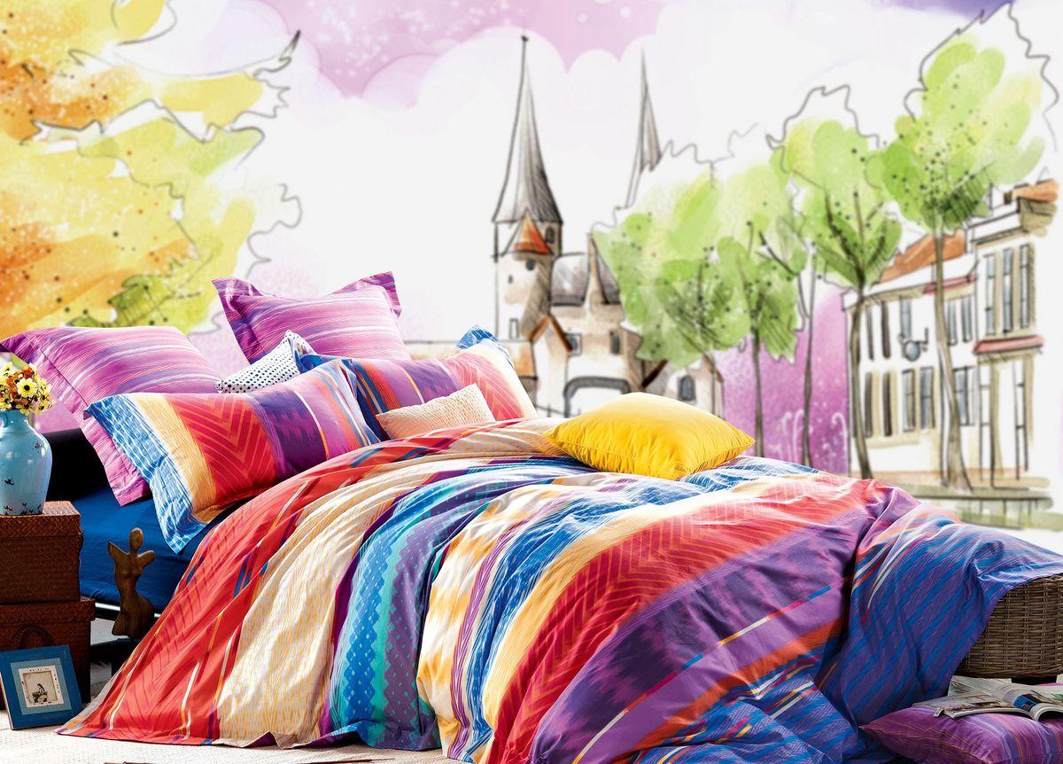 Комплект белья Диана La Vanille, 1,5-спальный, наволочки 70х70, цвет: сиреневый, желтый. С-592-143-150-70CLP446Комплект постельного белья Диана La Vanille состоит из пододеяльника, простыни и двух наволочек. Постельное белье оформлено оригинальным узором и имеет изысканный внешний вид.Белье изготовлено бязи (100% хлопка).Бязь - это ткань из экологически чистого и натурального 100% хлопка. Неоспоримым плюсом белья из такой ткани является мягкостьи легкость, она прекрасно пропускает воздух, приятна на ощупь, не образует катышков на поверхности и за ней легко ухаживать. При соблюдении рекомендаций по уходу, это белье выдерживает много стирок, не линяет и не теряет свою первоначальную прочность. Уникальная ткань обеспечивает легкую глажку.Приобретая комплект постельного белья Диана La Vanille, вы можете быть уверенны в том, что покупка доставит вам ивашим близким удовольствие и подарит максимальный комфорт.