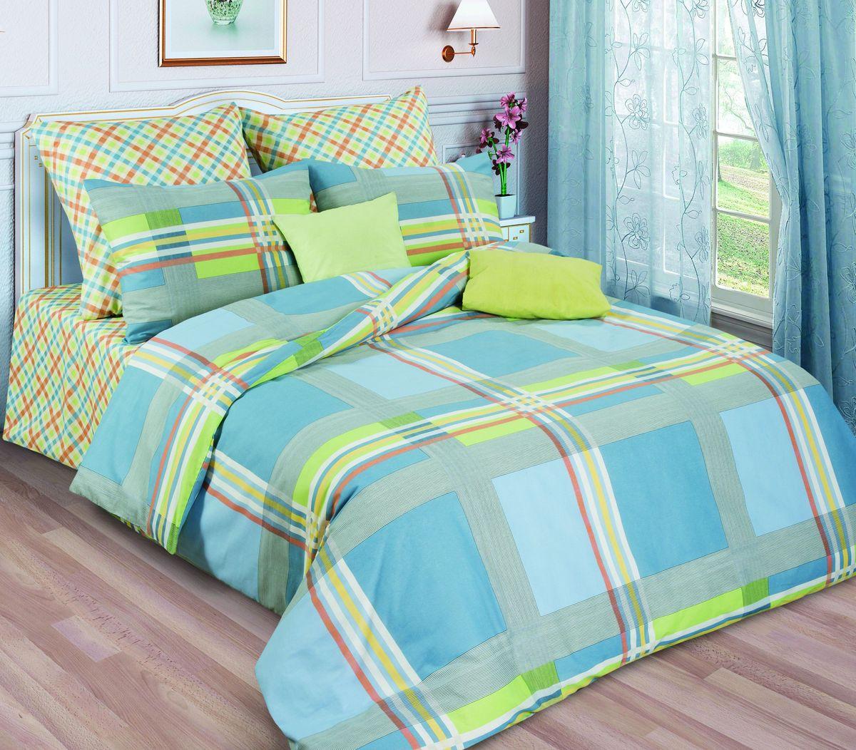 Комплект белья Диана La Vanille, 1,5-спальный, наволочки 70х70, цвет: зеленый, серый, голубой. С-644/2-143-150-70K100Комплект постельного белья Диана La Vanille состоит из пододеяльника, простыни и двух наволочек. Белье бесшовное, оформлено оригинальным рисунком и имеет изысканный внешний вид. Изготовлено из бязи люкс (100% хлопка).Бязь - это ткань из экологически чистого и натурального 100% хлопка. Неоспоримым плюсом белья из такой ткани является мягкость и легкость, она прекрасно пропускает воздух, приятна на ощупь, не образует катышков на поверхности и за ней легко ухаживать. При соблюдении рекомендаций по уходу это белье выдерживает много стирок, не линяет и не теряет свою первоначальную прочность. Уникальная ткань обеспечивает легкую глажку.Приобретая комплект постельного белья Диана La Vanille, вы можете быть уверенны в том, что покупка доставит вам и вашим близким удовольствие и подарит максимальный комфорт.