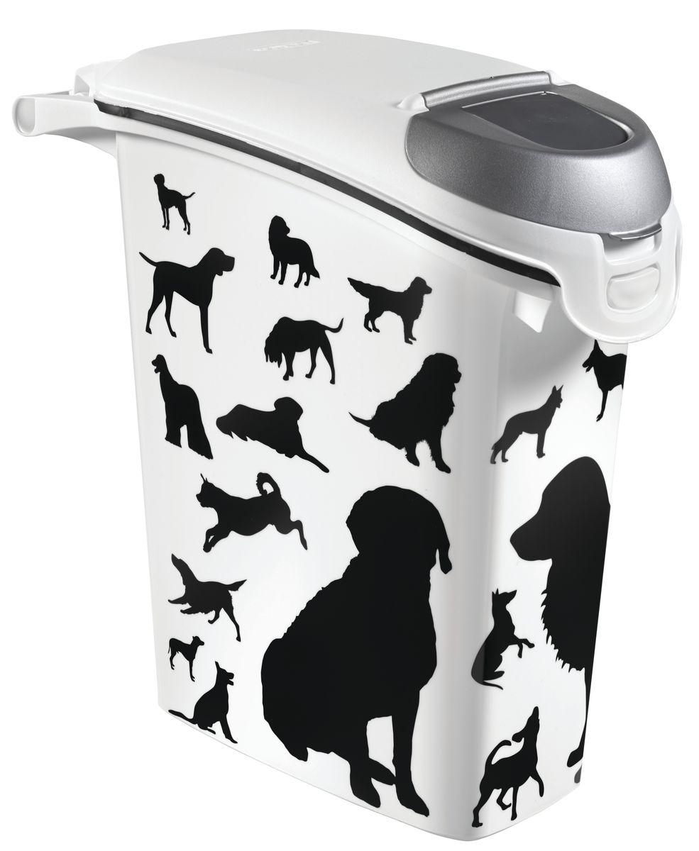 Контейнер Curver Pet Life. Собаки для хранения сухого корма, 23 л0120710Контейнер Curver Pet Life. Собаки, изготовленный из высококачественного пищевого пластика, оснащен плотно закрывающейся крышкой. Изделие декорировано изображением и предназначено для хранения корма для собак. Вытянутая форма контейнера делает его удобным для хранения.В таком контейнере корм останется всегда свежим. Контейнер позволяет сохранить вкус и запах корма.Не содержит вредных примесей.Объем: 23 л. Вес корма: 10 кг.Размер контейнера: 50 х 23 х 50 см.
