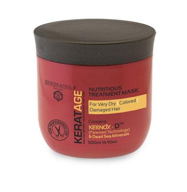 Egomania Professional Collection Маска Keratage Ультрапитание для очень сухих, окрашенных и поврежденных волос 500 млFS-00897Маска интенсивно питает, увлажняет волосы изнутри, укрепляя их структуру, и способствует долгому сохранению цвета волос. Уникальный комплекс КЕРНОКС-Д на основе минералов Мертвого моря, экстракта граната, масел примулы и шиповника укрепляет структуру окрашенных волос, защищает их от пересушивания и замедляет процесс старения волосЭкстракты ромашки и граната, розмарина лекарственного плотно запечатывают кутикулу волоса. Сок листьев алоэ обволакивает структуру волоса, делая ее легкой, защищенной и целостной.