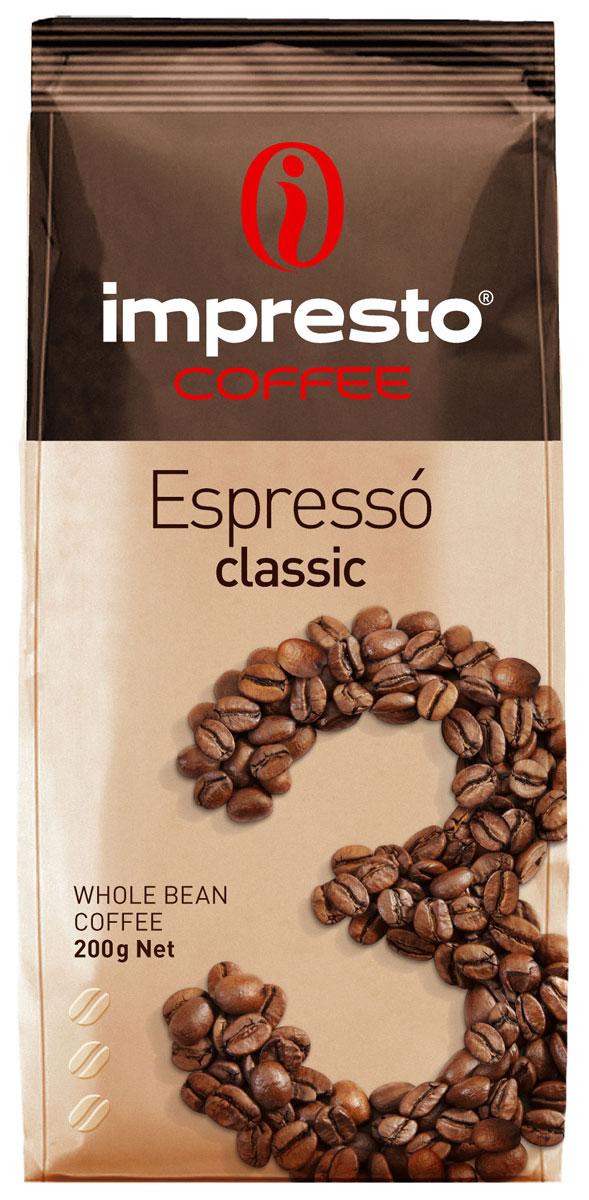 Impresto Espresso Classic кофе в зернах, 200 г0120710Традиционный итальянский эспрессо с мягким и бархатистым характером. Вы узнаете его по благородному вкусу, идеальной воздушной кремаи необыкновенному аромату с нотами пряностейи шоколада. Страна: Бразилия, Уганда.Коллекция Impresto – это особая линейка с оригинальными рецептурами из 100% арабики и сбалансированных купажей с робустой, а также декофеинизированный кофе и фильтр-смеси. Мы с радостью предоставляем возможность каждому ценителю кофе приготовить дома превосходный утренний американо, послеобеденную чашечку эспрессо и вечерний кофе с молоком. Купажи Impresto – это зерно с лучших плантаций мира, мастерство европейского обжарщика, тщательное купажирование и высокотехнологичное производство с приверженностью к итальянским кофейным традициям. Impresto – это не только качественный кофе, но и бренд с насыщенной эмоциональной составляющей. Impressive, rest, espresso, restaurant, presto – все это несет в себе Impresto. Новый кофе Impresto – это идеальный выбор современных и динамичных людей, которые любят и умеют ценить действительно вкусный кофе.