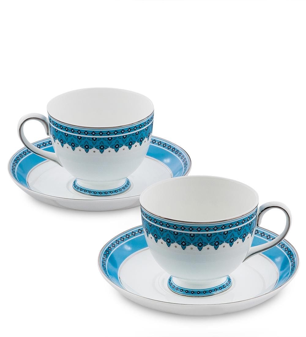 Чайный набор Pavone Византия, цвет: белый, голубой, 4 предметаVT-1520(SR)Чайный набор Pavone Византия состоит из двух чашек и двух блюдец,изготовленных из фарфора. Предметы набора оформленыоригинальным орнаментом.Чайный набор Pavone Византия украсит ваш кухонный стол, а такжестанет замечательным подарком друзьям и близким.Изделие упаковано в подарочную коробку. Диаметр чашки по верхнему краю: 8,5 см.Высота чашки: 7 см.Диаметр блюдца: 15,5 см.