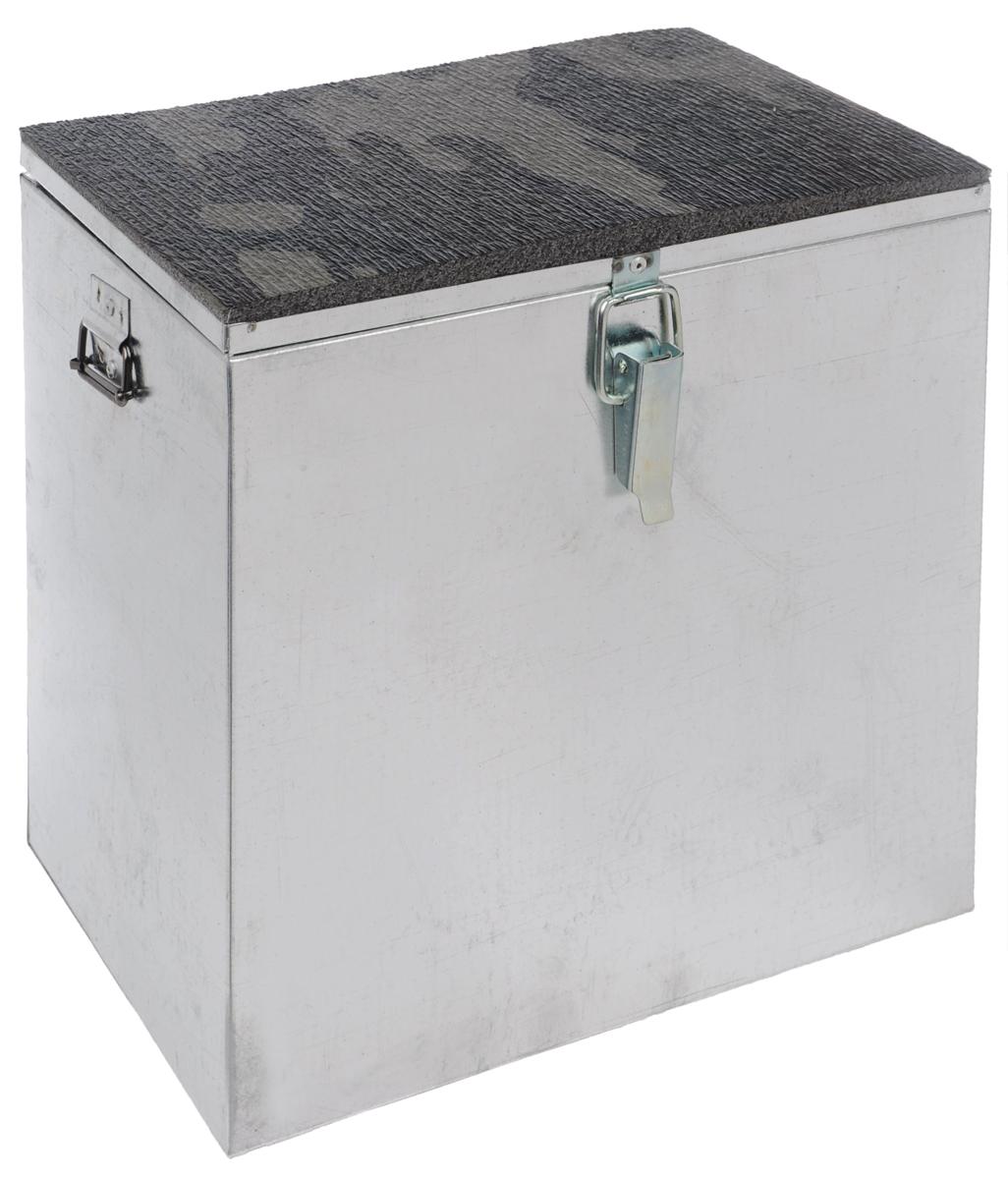 Ящик рыболова Рост, оцинкованный, 30 см х 19 см х 29 см2447Прочный и надежный ящик Рост, выполненный из высококачественной оцинкованной стали, сможет не один год прослужить любителю зимней рыбалки для транспортировки снастей и улова. Служащая сиденьем верхняя часть крышки оклеена плотным теплоизолятором - пенополиэтиленом с рифленой поверхностью. Боковые стенки емкости снабжены петлями для крепления идущего в комплекте плечевого ремня.