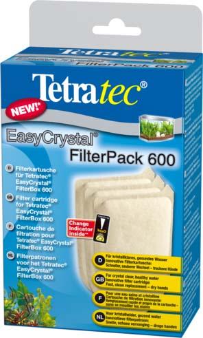 Фильтрующие картриджи Tetra EC 600, для внутреннего фильтра EasyCrystal 600, 3 шт174658Губки для внутренних аквариумных фильтров без угля. Выполняют только механическую и биологическую очистку воды. Отфильтрованная вода прозрачная и не содержит болезнетворных микроорганизмов. Инновационная конструкция губки и ее компактные размеры позволяют осуществлять ее замену без демонтажа фильтра.