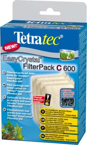 Фильтрующие картриджи Tetra EC 600, с углем, 3 шт0120710Набор фильтрующих картриджей (губок) с углем созданы для комплектации внутренних фильтров EasyCrystal®Filter 250, EasyCrystal® FilterBox 300. Губки выполняют интенсивную механическую, биологическую и химическую чистку воды. Замена губки не требует нарушения положения фильтрационной установки, руки остаются совершенно сухими.Механическая фильтрация воды осуществляется путем пропускания струи воды через белую и зеленую стороны губки. Химическая фильтрация осуществляется посредством активированного угля, который устраняет загрязненность воды и неприятные запахи.