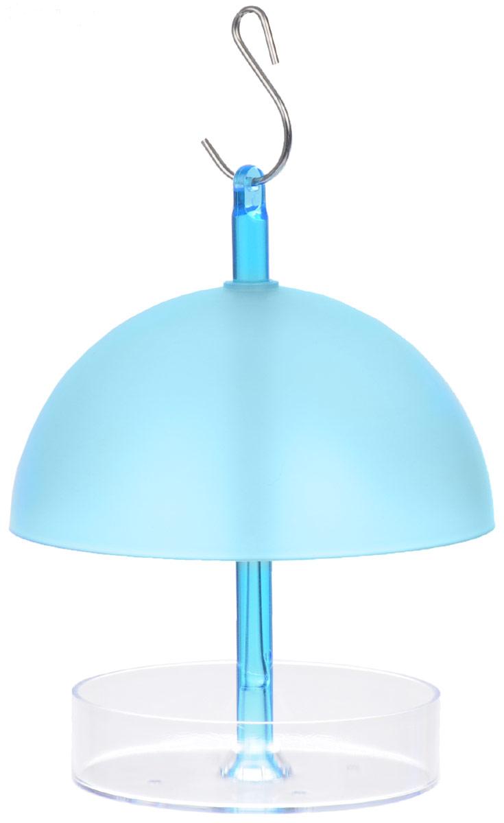 Кормушка Gardman, цвет: голубой, прозрачный, высота 16 смМ 8623Кормушка для птиц Gardman выполнена из высококачественного пластика. Благодаря шарообразной форме и прочному пластику, корму в такой кормушке не страшны ни ветер, ни дождь, ни снег. Для подвешивания предусмотрено прочное металлическое кольцо. Изделие подходит для кормления маленьких птиц.Такая кормушка будет отлично смотреться в вашем саду.Высота кормушки: 16 см.Диаметр кормушки: 13,5 см.