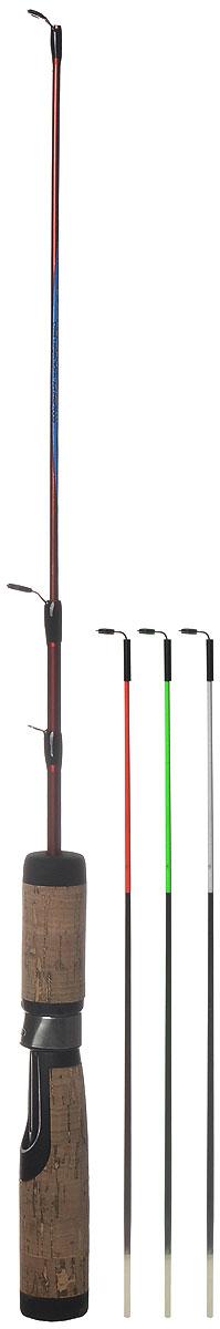 Удочка зимняя SWD Ice action, 65 см17819Удочка SWD Ice action предназначена для зимней рыбалки. Изделие укомплектовано пропускными кольцами, тюльпаном и винтовым катушкодержателем. Ручка изготовлена из пробки со вставками из неопрена и пластика. В сложенном виде изделие не занимает много места. В комплекте 3 хлыстика различной жесткости и чехол.