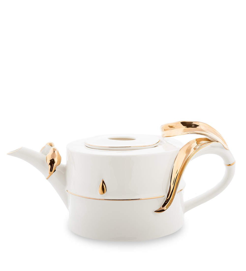 Чайник заварочный Pavone Бамбук, цвет: белый, золотой, 1 л10682-01Чайник заварочный Pavone Бамбук изготовлен из высококачественной фарфора. Изделие украшено нежной золотистой окантовкой и продолговатыми вкраплениями. Такой чайник прекрасно дополнит сервировку стола к чаепитию и станет его неизменным атрибутом.Изделие упаковано в подарочную коробку с атласной подложкой. Объем: 1 л. Диаметр (по верхнему краю): 7,5 см. Высота стенки (без учета крышки): 9 см.