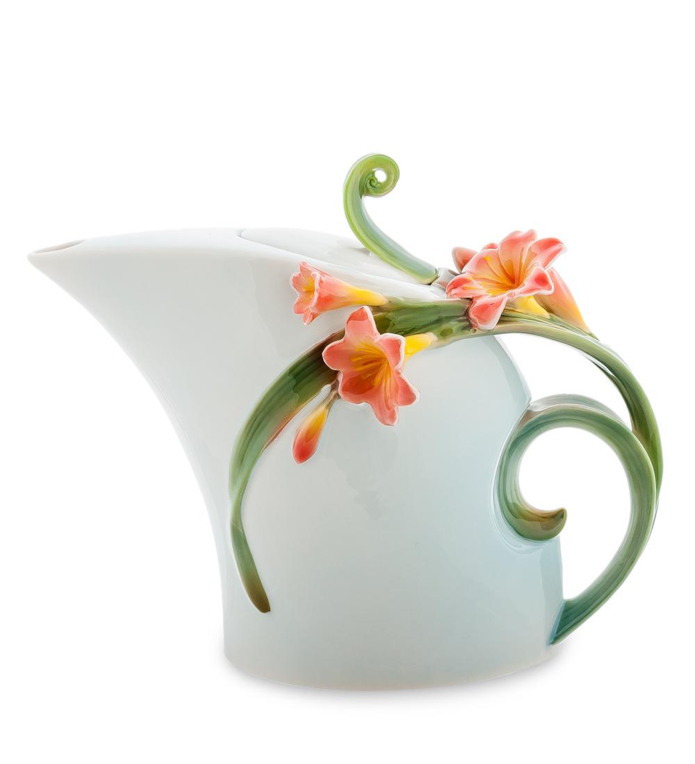 Чайник заварочный Pavone Кливия, цвет: голубой, зеленый, 850 мл1RС12Чайник заварочный Pavone Кливия изготовлен из высококачественной фарфора. Изделие оформлено изящными объемными цветами. Такой чайник прекрасно дополнит сервировку стола к чаепитию и станет его неизменным атрибутом.Изделие упаковано в подарочную коробку с атласной подложкой. Объем: 850 мл. Размеры по по верхнему краю: 3,5 см х 5 см. Высота стенки (без учета крышки): 16 см.