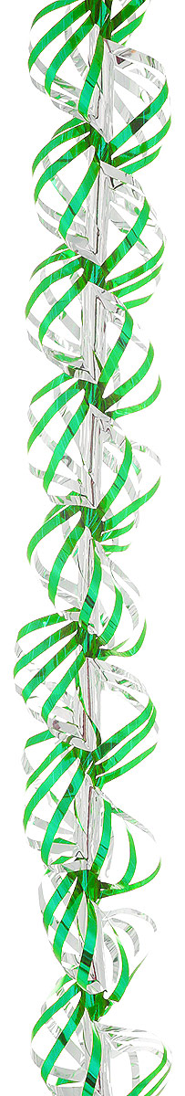 Мишура новогодняя Sima-land, цвет: зеленый, серебристый, диаметр 3 см, длина 150 см. 701463RSP-202SНовогодняя мишура Sima-land, выполненная из фольги, поможет вам украсить свойдом к предстоящим праздникам. А новогодняя елка с таким украшением станет ещенаряднее. Новогодней мишурой можно украсить все, что угодно - елку, квартиру, дачу, офис -как внутри, так и снаружи. Можно сложить новогодние поздравления, буквы и цифры,мишурой можно украсить и дополнить гирлянды, можно выделить дверные колонны,оплести дверные проемы. Коллекция декоративных украшений из серии Зимнее волшебство принесет в вашдом ни с чем не сравнимое ощущение праздника! Создайте в своем доме атмосферутепла, веселья и радости, украшая его всей семьей.