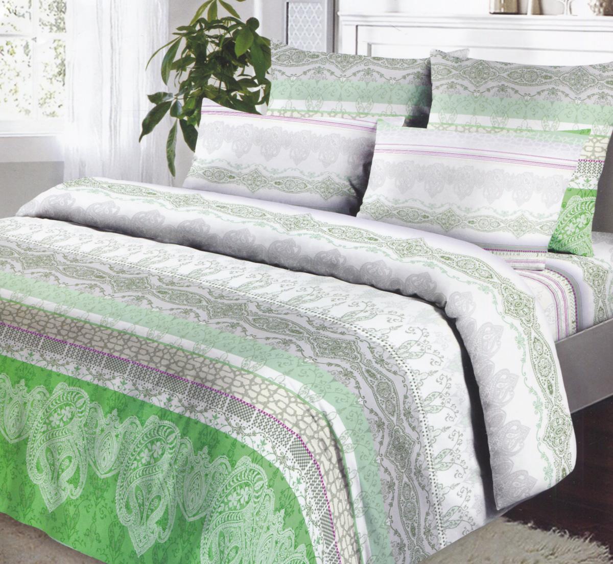 Комплект белья Коллекция Эстетика, 1,5-спальный, наволочки 70х70, цвет: зеленый, серый, белыйCLP446Комплект постельного белья Коллекция Эстетика является экологически безопасным для всей семьи, так как выполнен из бязи (100% натурального хлопка), что гарантирует крепкий и здоровый сон. Комплект состоит из пододеяльника, простыни и двух наволочек. Постельное белье, оформленное оригинальными цветочными узорами, послужит прекрасным дополнением к интерьеру вашей спальной комнаты.Гладкая структура делает ткань приятной на ощупь, мягкой и нежной, при этом она прочная и хорошо сохраняет форму. Ткань легко гладится. Благодаря такому комплекту постельного белья вы сможете создать атмосферу роскоши и романтики в вашей спальне. Бязь - хлопчатобумажная плотная ткань полотняного переплетения. Отличается прочностью и стойкостью к многочисленным стиркам. Бязь считается одной из наиболее подходящих тканей, для производства постельного белья и пользуется в России большим спросом.