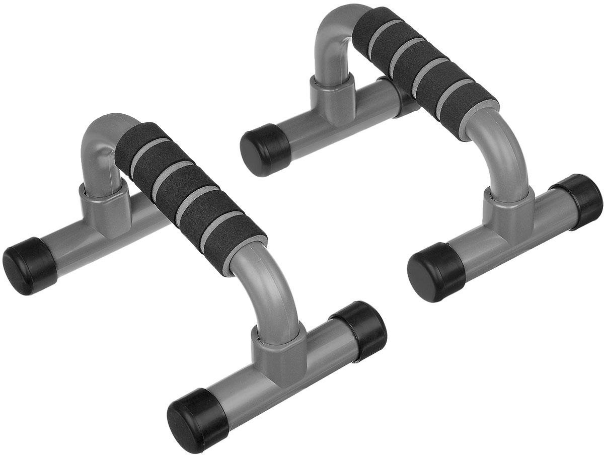 Упоры для отжиманий Ironman, 2 штGB-9160/9102Упоры для отжиманий Ironman выполнены из прочного пластика, мягкие ручки из синтетического каучука. Традиционную технику выполнения отжиманий можно существенно дополнить, используя упоры для отжиманий - эффективный инструмент, который позволяетразвивать и укреплять мышцы рук, груди и плечевого пояса, развивает выносливость.Размер упоров: 22 см х 15 см х 13 см.
