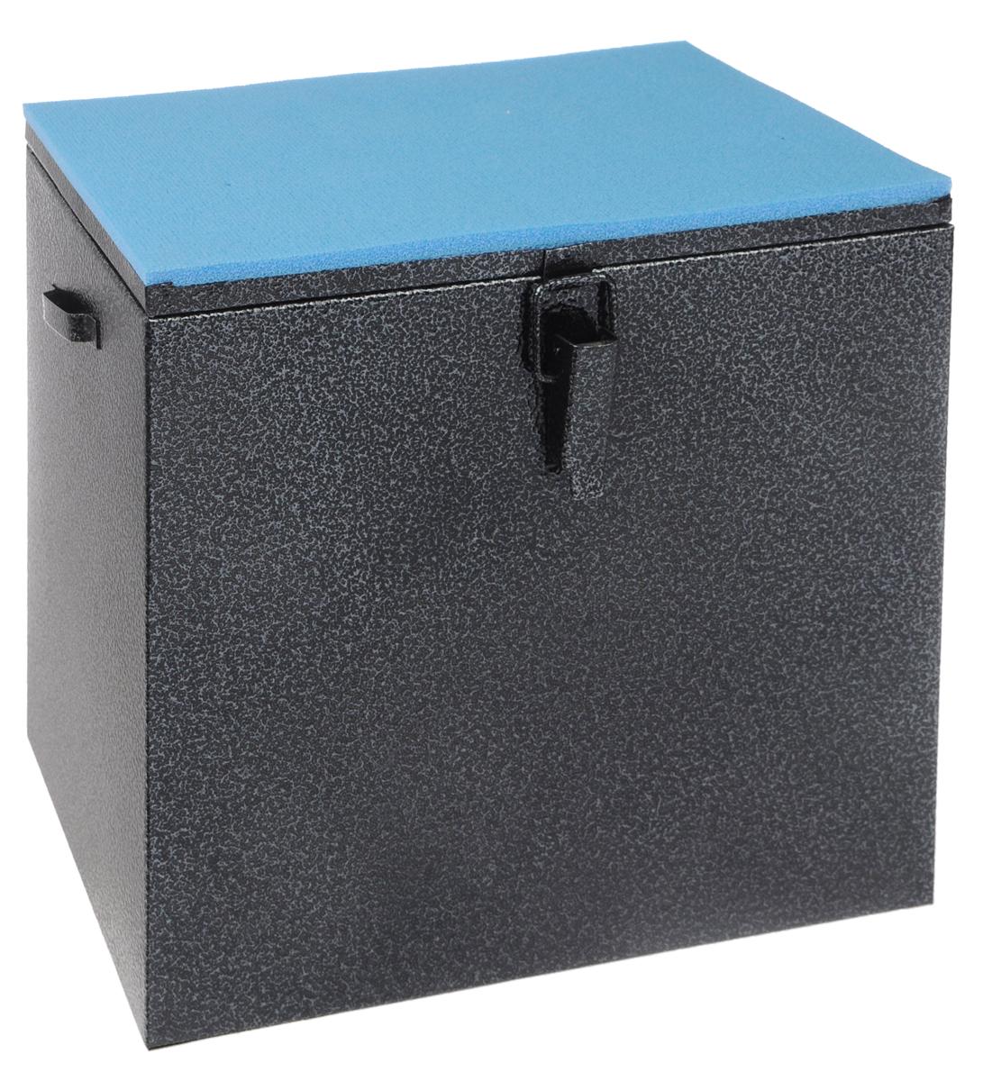 Ящик рыболова Рост, окрашенный, 30 см х 19 см х 29 см26733Прочный и надежный ящик Рост, выполненный из высококачественной окрашенной стали, сможет не один год прослужить любителю зимней рыбалки для транспортировки снастей и улова. Служащая сиденьем верхняя часть крышки оклеена плотным теплоизолятором - пенополиэтиленом с рифленой поверхностью. Внутренний объем ящика разделен перегородкой, придающей конструкции дополнительную жесткость. Боковые стенки емкости снабжены петлями для крепления идущего в комплекте плечевого ремня.