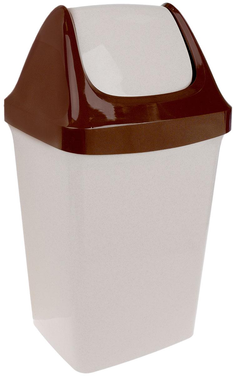 Контейнер для мусора Idea Свинг, цвет: светло-бежевый, коричневый, 25 л68/5/3Контейнер для мусора Idea Свинг, изготовленный из прочного полипропилена, снабжен удобной съемной крышкой с подвижной перегородкой. Благодаря лаконичному дизайну такой контейнер идеально впишется в интерьер и дома, и офиса.
