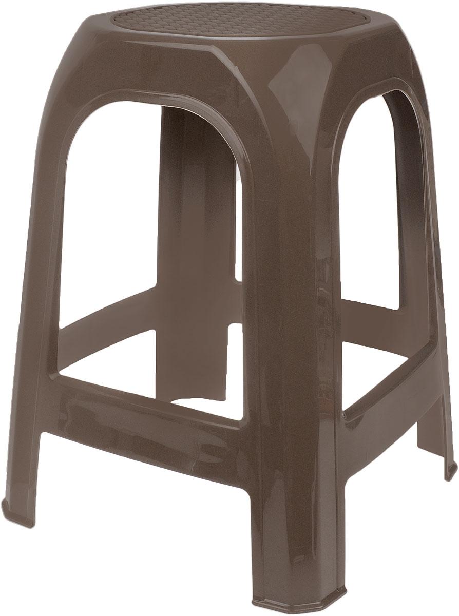 Табурет Idea, цвет: темно-бежевый, высота 46 смFS-91909Табурет Idea выполнен из прочного высококачественного пластика. Надежная опора ножек предотвращает опрокидывание табурета. Сиденье изделия оформлено рельефным рисунком под плетение. Такой табурет обязательно пригодятся и дома, чтобы разместить гостей за кухонным столом, и на даче, чтобы организовать место для отдыха или обеда на свежем воздухе.