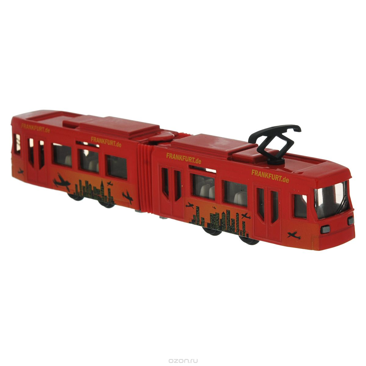 """Трамвай """"Siku"""" выполнен из металла с элементами из пластика; его колесики крутятся. Такая модель понравится не только ребенку, но и взрослому коллекционеру, и приятно удивит вас высочайшим качеством исполнения. Трамвай станет не только интересной игрушкой для ребенка, интересующегося городской техникой, но и займет достойное место в коллекции."""