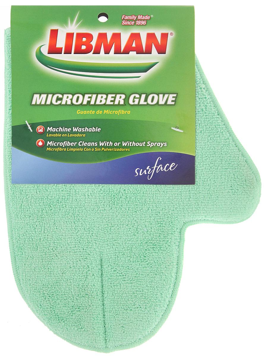 Варежка Libman для сухой и влажной уборки, цвет: салатовыйCLP446Варежка Libman, изготовленная из микрофибры (полиэстера, полиамида), легко удаляет пыль, деликатно моет поверхности, мягко удаляет сильные загрязнения. Применяется как в сухом, так и во влажном виде. Варежка удобно держится на руке и великолепно впитывает воду.
