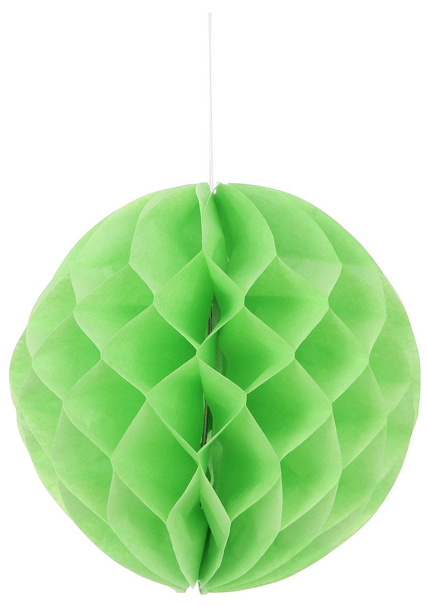Новогоднее подвесное украшение Lunten Ranta Шар, цвет: зеленый, диаметр 25 смIRK-503Декоративное подвесное украшение Lunten Ranta Шар оригинально оформит интерьер вашего дома. Изделие представляет собой красивый объемный шар, выполненный из бумаги. Легко собирается и скрепляется с помощью двустороннего скотча. Имеется петелька для подвешивания. Создайте в своем доме атмосферу веселья и радости, украшая его всей семьей новогодними украшениями, которые будут из года в год накапливать теплоту воспоминаний.