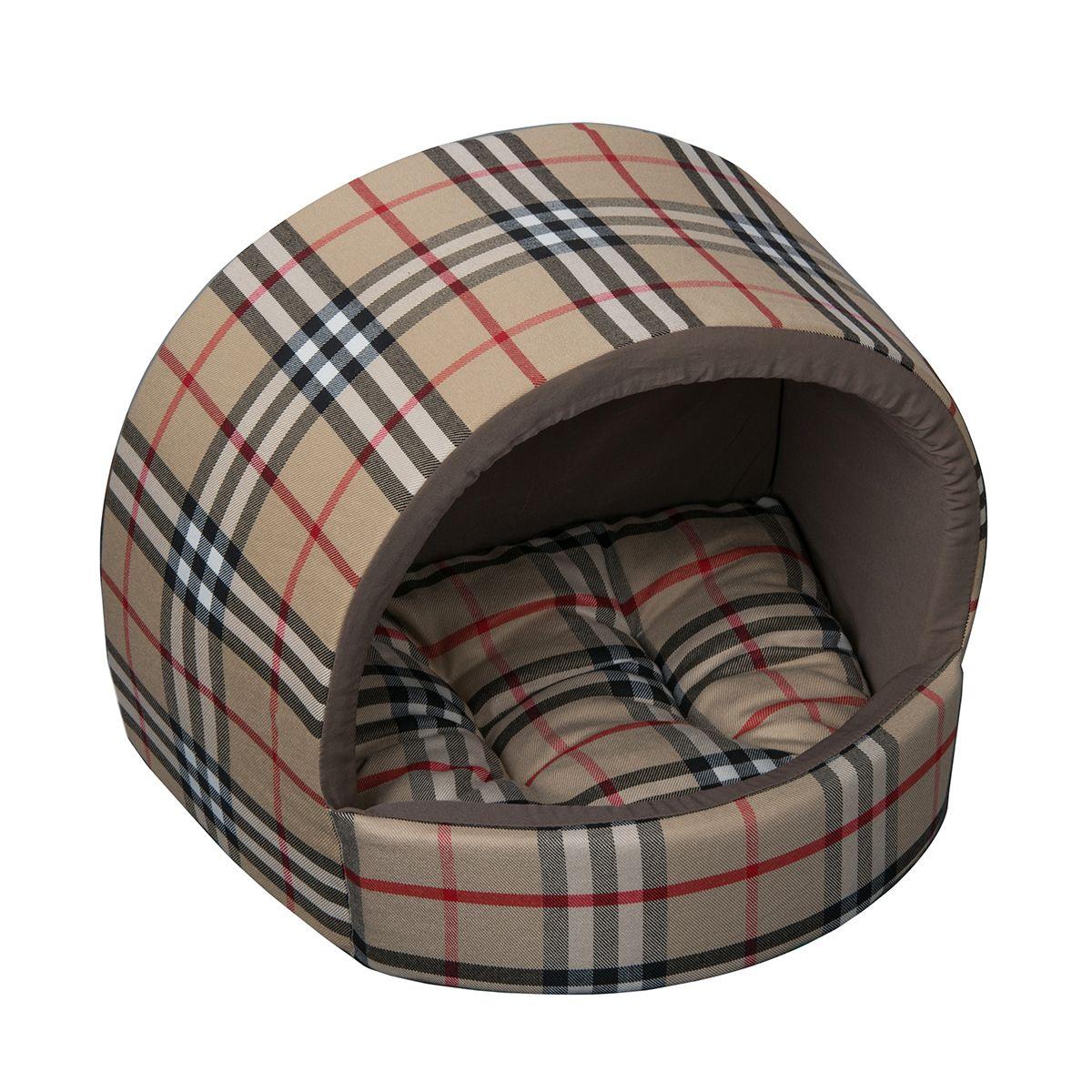 Домик Dogmoda В клетку 34*30*28 см0120710Уютный домик для животных актуальной расцветки клетка, сдержанный и практичный.