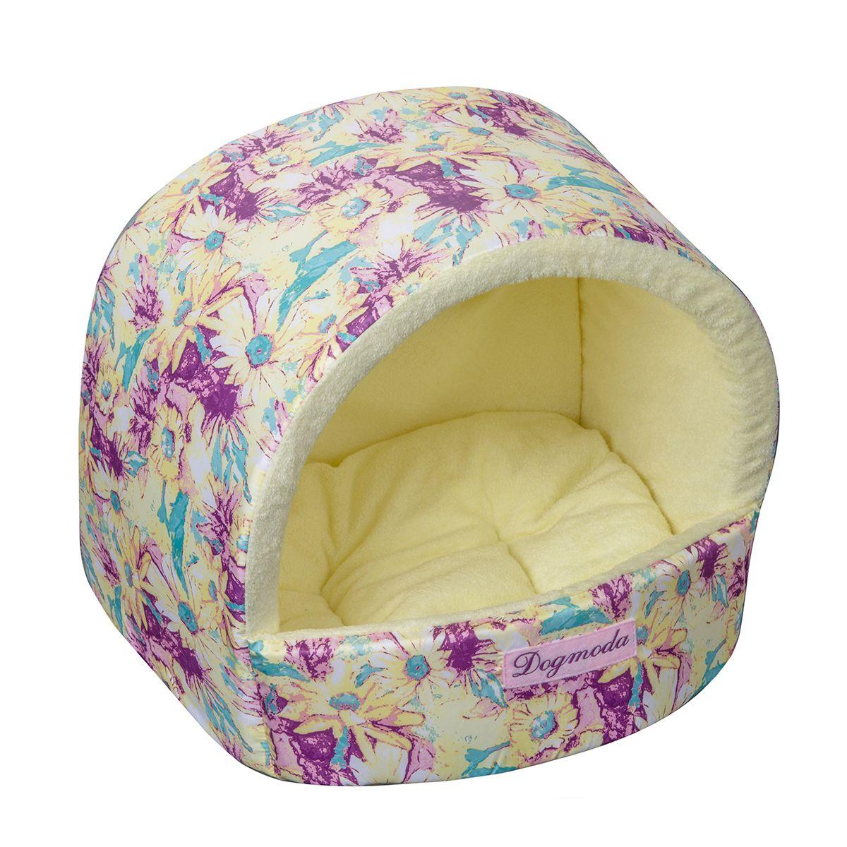 Домик Dogmoda Букет 34*30*28 см0120710Яркий солнечный домик для животных. Выполнен из моющейся ткани, внутри нежный искусственный мех.