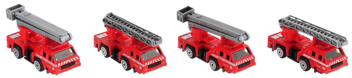 """Набор машинок Zhorya """"Пожарная техника"""" доставит много радости вашему сыну. В комплект входит четыре пожарные машины: две пожарные автолестницы и две пожарные автовышки. Играя с ними, мальчик получит возможность почувствовать себя настоящим пожарным, выезжать на вызовы и спасать людей из огня. Колеса машинок вращаются, лестницы выдвигаются и поднимаются, вышки поднимаются. Игрушка пригодна как для самостоятельной игры, так и для досуга с друзьями. Такие игрушки отлично помогают развить моторику рук и координацию движений, а также воображение и пространственное мышление."""