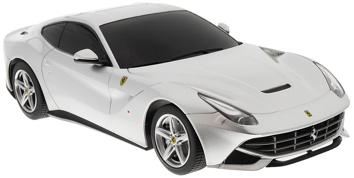 """Радиоуправляемая модель Rastar """"Ferrari F12 Berlinetta"""" станет отличным подарком любому мальчику! Все дети хотят иметь в наборе своих игрушек ослепительные, невероятные и модные автомобили на радиоуправлении. Тем более, если это автомобиль известной марки с проработкой всех деталей, удивляющий приятным качеством и видом. Одной из таких моделей является автомобиль на радиоуправлении Rastar """"Ferrari F12 Berlinetta"""". Это точная копия настоящего авто в масштабе 1:18. Возможные движения: вперед, назад, вправо, влево, остановка. При движении загораются фары и стоп-сигналы. Пульт управления выполнен в виде полнофункционального руля с переключателем передач, кнопками акселератора, тормоза, клаксона. При повороте руля возникает звуковой эффект ритмичного тиканья, и машина поворачивает. При нажатии на клаксон раздается звуковой сигнал. Пульт управления работает на частоте 40 MHz. Для работы машины необходимы 4 батарейки типа АА (не входят в комплект). ..."""