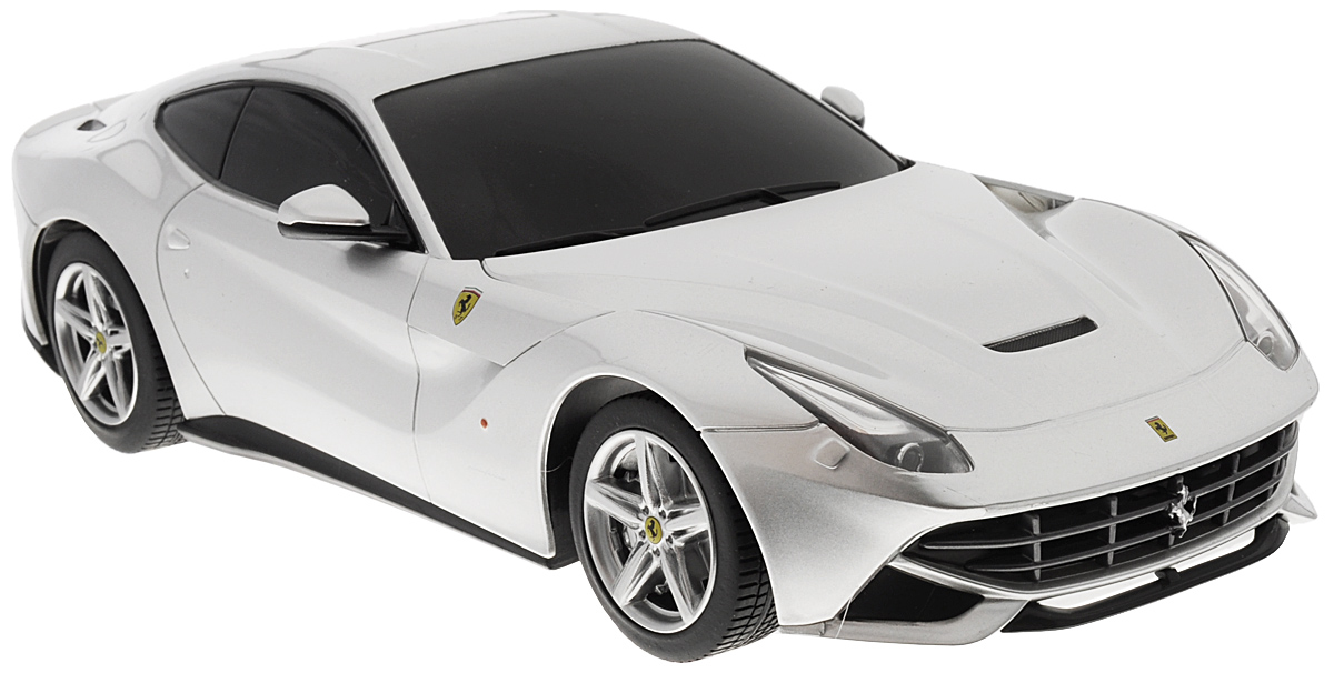 """Радиоуправляемая модель Rastar """"Ferrari F12 Berlinetta"""" станет отличным подарком любому мальчику! Все дети хотят иметь в наборе своих игрушек ослепительные, невероятные и крутые автомобили на радиоуправлении. Тем более, если это автомобиль известной марки с проработкой всех деталей, удивляющий приятным качеством и видом. Одной из таких моделей является автомобиль на радиоуправлении Rastar """"Ferrari F12 Berlinetta"""". Это точная копия настоящего авто в масштабе 1:18. Авто обладает неповторимым провокационным стилем и спортивным характером. Потрясающая маневренность, динамика и покладистость - отличительные качества этой модели. Возможные движения: вперед, назад, вправо, влево, остановка. Имеются световые эффекты. Пульт управления работает на частоте 40 MHz. Для работы игрушки необходимы 4 батарейки типа АА (не входят в комплект). Для работы пульта управления необходима 2 батарейки типа АА (не входят в комплект)."""