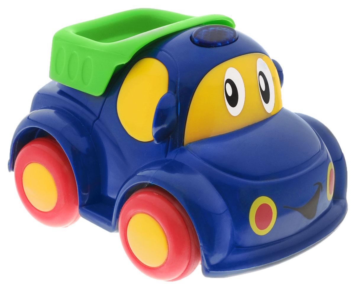 """Радиоуправляемая машинка от """"Simba"""" обязательно привлечет внимание вашего малыша. Веселая машинка с глазастой мордочкой и пультом дистанционного управления, непременно понравится маленькому автолюбителю. Она очень проста в управлении и изготовлена из высококачественной пластмассы. Пульт имеет всего две кнопки: вперед и разворот. Ваш ребенок весело проведет время, играя с машинкой на пульте управления. Порадуйте своего малыша таким замечательным подарком! Для работы машинки и пульта требуются 4 батарейки типа АА (не входят в комплект)."""