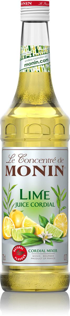 Monin Лайм Джус сироп, 1 л0120710Сироп Лайм Джус состоит из концентрированного сока лайма, сока лимона, воды и сахара.Сиропы Monin выпускает одноименная французская марка, которая известна как лидирующий производитель алкогольных и безалкогольных сиропов в мире. В 1912 году во французском городке Бурже девятнадцатилетний предприниматель Джордж Монин основал собственную компанию, которая специализировалась на производстве вин, ликеров и сиропов. Место для завода было выбрано не случайно: город Бурже находился в непосредственной близости от крупных сельскохозяйственных районов - главных поставщиков свежих ягод и фруктов.Производство сиропов стало ключевым направлением деятельности компании Monin только в 1945 году, когда пост главы предприятия занял потомок основателя - Пол Монин. Именно под его руководством ассортимент марки пополнился разнообразными сиропами из натуральных ингредиентов, которые молниеносно заслужили блестящую репутацию в кругу поклонников кофейных напитков и коктейлей. По сей день высокое качество остается базовым принципом деятельности французской марки. Сиропы Монин создаются исключительно из натуральных ингредиентов по уникальным технологиям, позволяющим сохранять в готовом продукте все полезные свойства природного сырья.Эксперты всего мира сходятся во мнении, что сиропы Monin - это законодатели мод в миксологии. Ассортимент французской марки на сегодняшний день является самым широким и насчитывает полторы сотни уникальных вкусовых решений. В каталоге компании можно найти как классические вкусы для кофейных напитков (шоколадный, ванильный, ореховый и другие сиропы), так и весьма экзотические варианты (сиропы со вкусом кокоса, зеленой мяты, тирамису, блю курасао, аниса, грейпфрута, пина колады и т. д.). Отметим, что все сиропы обладают мягкими, деликатными вкусовыми и ароматическими характеристиками, что говорит о натуральном составе продуктов.Вкус: сочный лайм.Применение: коктейли, чай, газированные напитки.