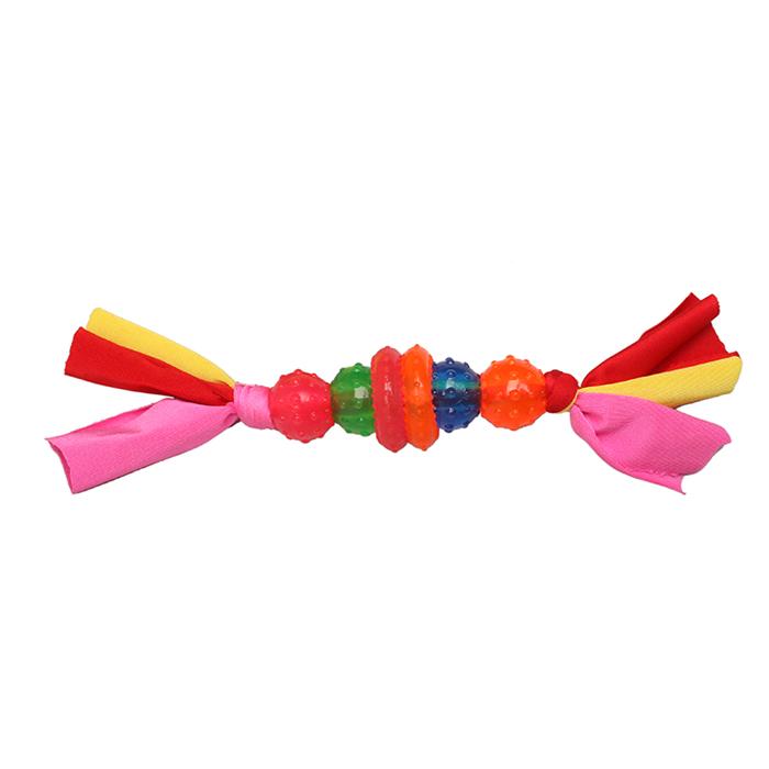 Игрушка Ziver 4 шарика и 2 кольца на веревке 25 см5020Игрушка ZIVER 4 шарика и 2 кольца на веревке 25 см