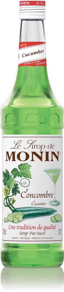 Monin Огуречный сироп, 0,7 лSMONN0-000075Даже если огурцы очень популярны и доступны во многих странах, всё равно огуречный сок является деликатным и имеет короткий срок хранения. Сироп Monin Огуречный поможет профессионалам сэкономить время, сохраняя реальный свежий вкус огурца.Сиропы Monin выпускает одноименная французская марка, которая известна как лидирующий производитель алкогольных и безалкогольных сиропов в мире. В 1912 году во французском городке Бурже девятнадцатилетний предприниматель Джордж Монин основал собственную компанию, которая специализировалась на производстве вин, ликеров и сиропов. Место для завода было выбрано не случайно: город Бурже находился в непосредственной близости от крупных сельскохозяйственных районов - главных поставщиков свежих ягод и фруктов.Производство сиропов стало ключевым направлением деятельности компании Monin только в 1945 году, когда пост главы предприятия занял потомок основателя - Пол Монин. Именно под его руководством ассортимент марки пополнился разнообразными сиропами из натуральных ингредиентов, которые молниеносно заслужили блестящую репутацию в кругу поклонников кофейных напитков и коктейлей. По сей день высокое качество остается базовым принципом деятельности французской марки. Сиропы Монин создаются исключительно из натуральных ингредиентов по уникальным технологиям, позволяющим сохранять в готовом продукте все полезные свойства природного сырья.Эксперты всего мира сходятся во мнении, что сиропы Monin - это законодатели мод в миксологии. Ассортимент французской марки на сегодняшний день является самым широким и насчитывает полторы сотни уникальных вкусовых решений. В каталоге компании можно найти как классические вкусы для кофейных напитков (шоколадный, ванильный, ореховый и другие сиропы), так и весьма экзотические варианты (сиропы со вкусом кокоса, зеленой мяты, тирамису, блю курасао, аниса, грейпфрута, пина колады и т. д.). Отметим, что все сиропы обладают мягкими, деликатными вкусовыми и ароматическими харак