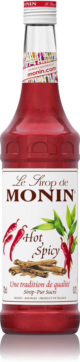 Monin Острый сироп, 0,7 лSMONN0-000086Monin Острый имеет сильный аромат специй. С ним вы испытаете сильные эмоции приятного острого пряного вкуса специй и перца чили. Он содержит натуральные экстракты корицы и перца. Попробуйте добавить сироп в различные коктейли и кулинарные приложения и вы будете влюблены в это горячее чувство.Сиропы Monin выпускает одноименная французская марка, которая известна как лидирующий производитель алкогольных и безалкогольных сиропов в мире. В 1912 году во французском городке Бурже девятнадцатилетний предприниматель Джордж Монин основал собственную компанию, которая специализировалась на производстве вин, ликеров и сиропов. Место для завода было выбрано не случайно: город Бурже находился в непосредственной близости от крупных сельскохозяйственных районов - главных поставщиков свежих ягод и фруктов.