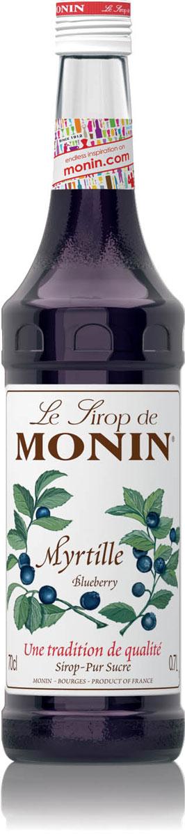 Monin Черника сироп, 0,7 л0120710Обладая бархатистым рубиновым цветом, сироп Monin Черника имеет сладкий вкус и аромат черники с легкой кислинкой. Отлично подходит длякоктейлей, газированных напитков, лимонадов, и фруктовых пуншей.Сиропы Monin выпускает одноименная французская марка, которая известна как лидирующий производитель алкогольных и безалкогольных сиропов в мире. В 1912 году во французском городке Бурже девятнадцатилетний предприниматель Джордж Монин основал собственную компанию, которая специализировалась на производстве вин, ликеров и сиропов. Место для завода было выбрано не случайно: город Бурже находился в непосредственной близости от крупных сельскохозяйственных районов - главных поставщиков свежих ягод и фруктов.