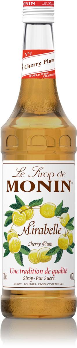 Monin Алыча сироп, 0,7 л0120710Алыча - ее французское название Мирабель происходит от латинского Mirabilis, что означает красивый. Сироп Monin Алыча даст вам вкусный и плодотворной аромат.ВКУС Вкус спелой сливы, сладкий пикантный вкус с небольшими кислыми нотками. ПРИМЕНЕНИЕ Пиво, соки, коктейли, чай. Сиропы Monin выпускает одноименная французская марка, которая известна как лидирующий производитель алкогольных и безалкогольных сиропов в мире. В 1912 году во французском городке Бурже девятнадцатилетний предприниматель Джордж Монин основал собственную компанию, которая специализировалась на производстве вин, ликеров и сиропов. Место для завода было выбрано не случайно: город Бурже находился в непосредственной близости от крупных сельскохозяйственных районов - главных поставщиков свежих ягод и фруктов.Производство сиропов стало ключевым направлением деятельности компании Monin только в 1945 году, когда пост главы предприятия занял потомок основателя - Пол Монин. Именно под его руководством ассортимент марки пополнился разнообразными сиропами из натуральных ингредиентов, которые молниеносно заслужили блестящую репутацию в кругу поклонников кофейных напитков и коктейлей. По сей день высокое качество остается базовым принципом деятельности французской марки. Сиропы Монин создаются исключительно из натуральных ингредиентов по уникальным технологиям, позволяющим сохранять в готовом продукте все полезные свойства природного сырья. Эксперты всего мира сходятся во мнении, что сиропы Monin - это законодатели мод в миксологии. Ассортимент французской марки на сегодняшний день является самым широким и насчитывает полторы сотни уникальных вкусовых решений. В каталоге компании можно найти как классические вкусы для кофейных напитков (шоколадный, ванильный, ореховый и другие сиропы), так и весьма экзотические варианты (сиропы со вкусом кокоса, зеленой мяты, тирамису, блю курасао, аниса, грейпфрута, пина колады и т. д.).