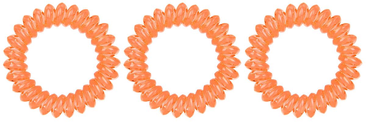 Резинка-браслет для волос Mitya Veselkov, цвет: оранжевый, 3 шт. REZ13004Яркие резинки-браслеты Mitya Veselkov выполнены из качественного ПВХ. Столь необычная форма резинок дает множество преимуществ. Резинка не оставляет заломов на волосах. При длительном ношении, снимая ее, вы не почувствуете усталость волос.Оригинально смотрится на волосах. Отлично сохраняет свою форму и надежно фиксирует прическу. Не мокнет. Не травмирует волосы. В отличие от обычных резинок, нет трения, зажимов отдельных волосков или прядей.Также их можно использовать как стильные браслеты.