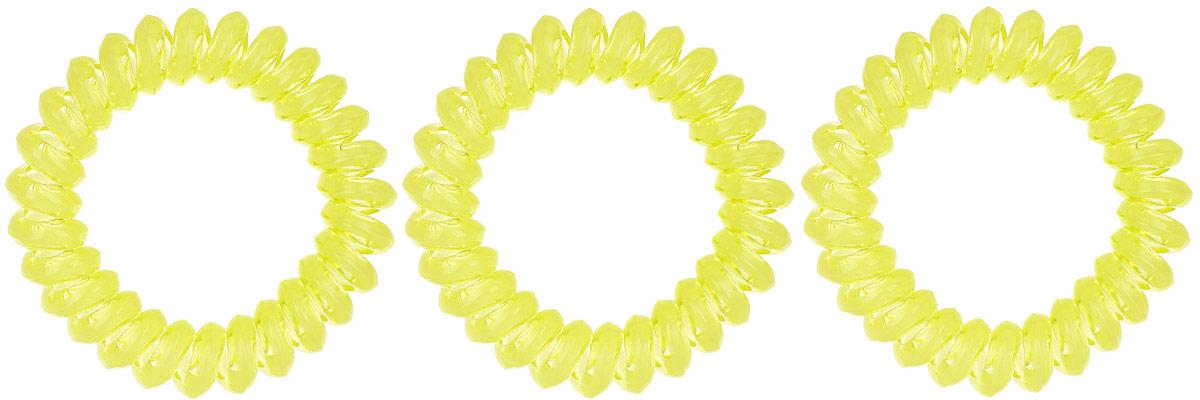 Резинка-браслет для волос Mitya Veselkov, цвет: желтый, 3 шт. REZ100006569100000Яркие резинки-браслеты Mitya Veselkov выполнены из качественного ПВХ. Столь необычная форма резинок дает множество преимуществ. Резинка не оставляет заломов на волосах. При длительном ношении, снимая ее, вы не почувствуете усталость волос.Оригинально смотрится на волосах. Отлично сохраняет свою форму и надежно фиксирует прическу. Не мокнет. Не травмирует волосы. В отличие от обычных резинок, нет трения, зажимов отдельных волосков или прядей.Также их можно использовать как стильные браслеты.