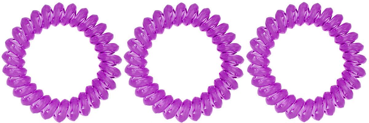 Резинка-браслет для волос Mitya Veselkov, цвет: фиолетовый, 3 шт. REZ1Серьги с подвескамиЯркие резинки-браслеты Mitya Veselkov выполнены из качественного ПВХ. Столь необычная форма резинок дает множество преимуществ. Резинка не оставляет заломов на волосах. При длительном ношении, снимая ее, вы не почувствуете усталость волос.Оригинально смотрится на волосах. Отлично сохраняет свою форму и надежно фиксирует прическу. Не мокнет. Не травмирует волосы. В отличие от обычных резинок, нет трения, зажимов отдельных волосков или прядей.Также их можно использовать как стильные браслеты.