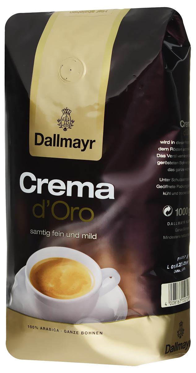 Dallmayr Crema dOro кофе в зернах, 1 кг0120710Dallmayr Crema dOro - кофе, составленный из элитных сортов зерен, выращенных на высокогорных плантациях. Тщательно подобранная композиция благородных кофейных зерен и щадящая обжарка дают нежную бархатную пенку и сбалансированный аромат.