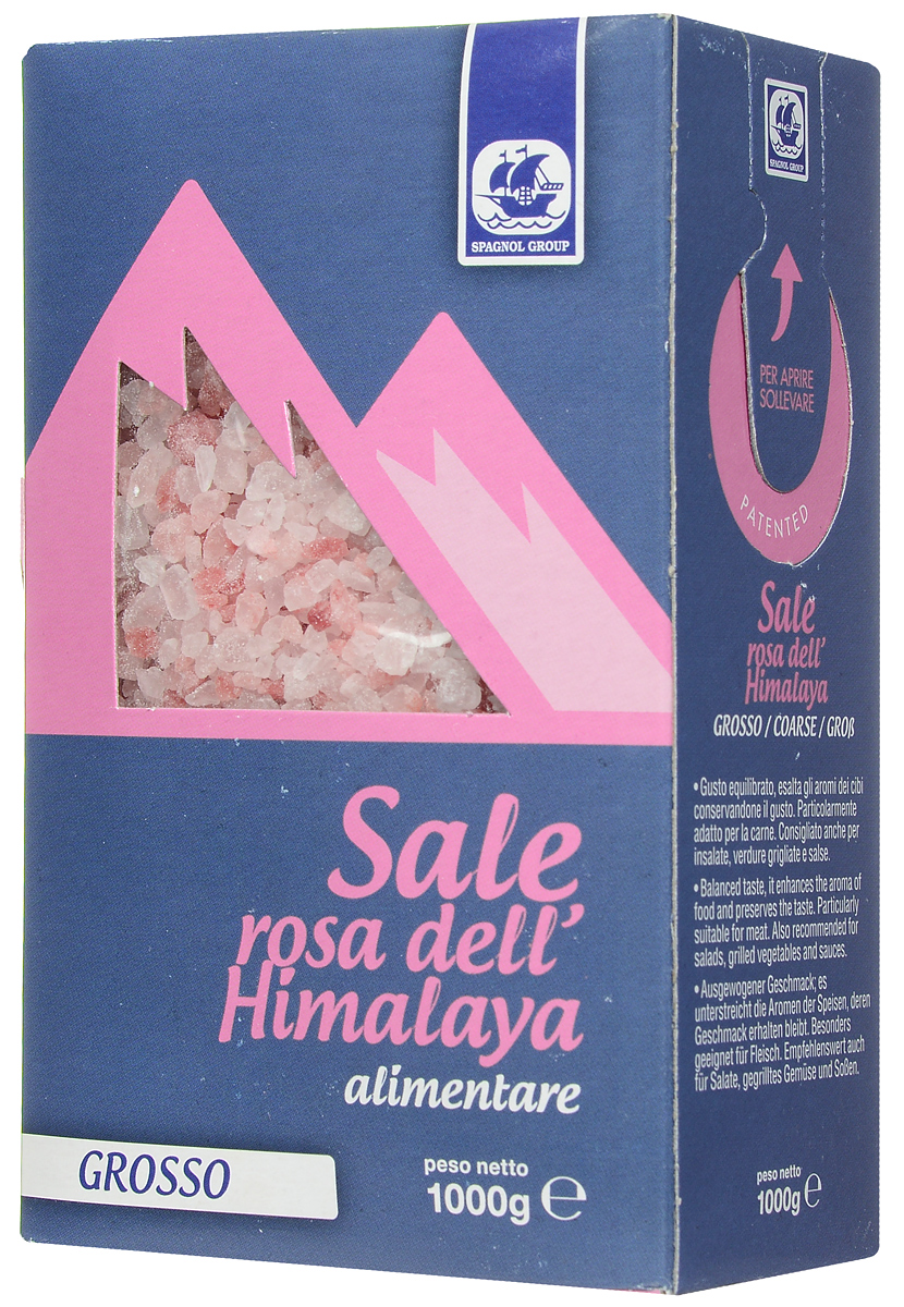 Spagnol Group соль пищевая розовая гималайская крупная, 1 кг