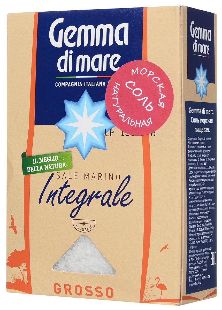 Gemma di Mare соль морская натуральная крупная, 1 кг0120710Gemma di Mare - крупная натуральная нерафинированная морская соль. Входящие в состав морской соли калий, натрий способствуют ускорению процесса метаболизма в человеческом организме.