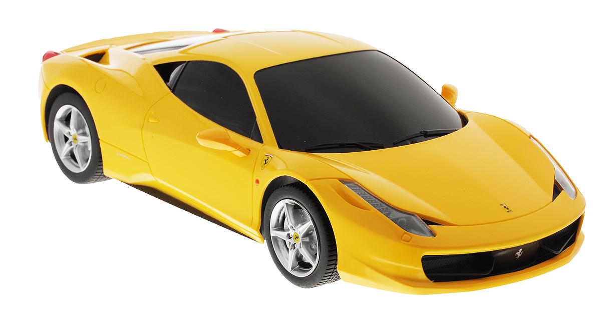 Rastar Радиоуправляемая модель Ferrari 458 Italia цвет желтый масштаб 1:18