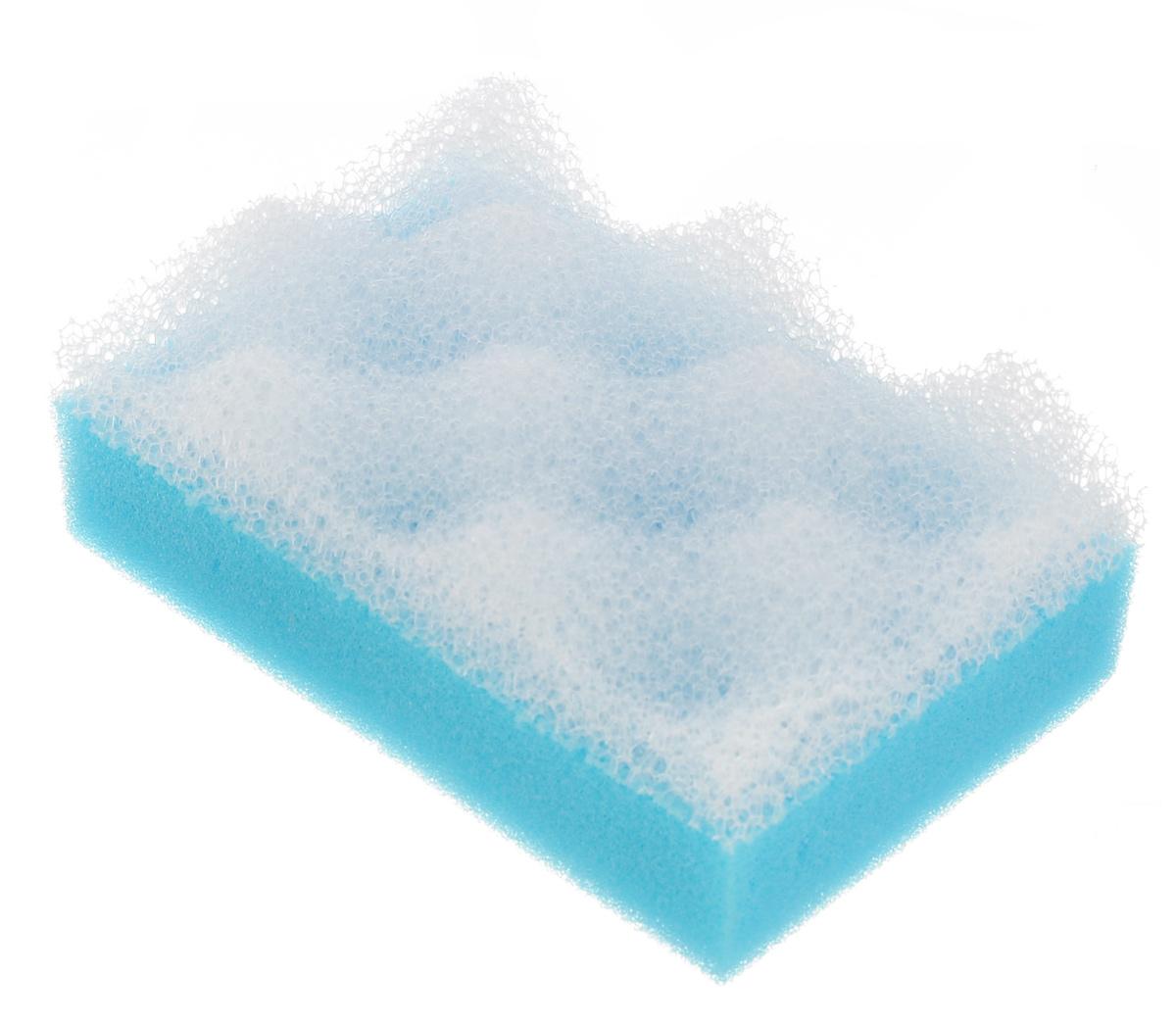Губка для тела Eva, с массажным слоем, цвет: голубой5010777139655Поролоновая двухслойная губка для тела Eva изготовлена из пенополиуретана и оснащена массажным слоем.Губку можно использовать в ванной, в бане или сауне. Она улучшает циркуляцию крови и обмен веществ, делает кожу здоровой и красивой.Подходит для ежедневного применения.